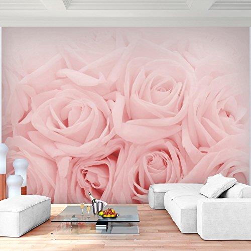 Fototapete Blumen Rosen Rosa Vlies Wand Tapete Wohnzimmer Schlafzimmer Büro Flur Dekoration Wandbilder XXL Moderne Wanddeko Flower 100% MADE IN GERMANY - Runa Tapeten 9258010a