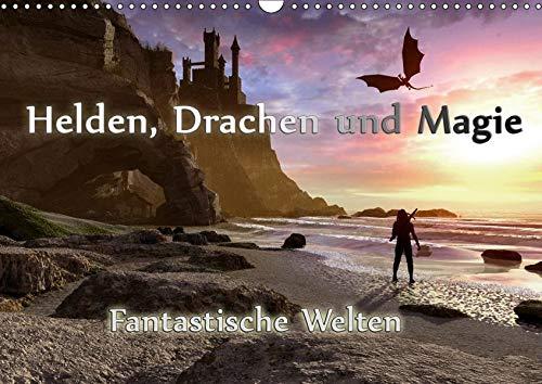 Helden, Drachen und Magie (Wandkalender 2019 DIN A3 quer): 12 wundervolle Fantasybilder, die sie durch das Jahr begleiten. (Monatskalender, 14 Seiten ) (CALVENDO Kunst)