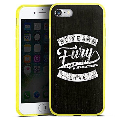 Apple iPhone 8 Silikon Hülle Case Schutzhülle Fury in the Slaughterhouse Merchandise Rock Silikon Colour Case gelb