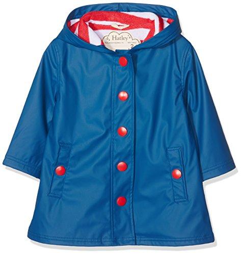Hatley Mädchen Regenjacke Splash Jackets, Blue (Navy/Red), 12 Jahre (Navy Blue Raincoat)