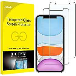 "JETech Film de Protection d'écran Compatible avec iPhone 11 et iPhone XR 6,1"" en Verre Trempé, Lot de 2"