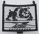 Heizkörperverkleidung/Kühlergrill 1290 R Superduke schwarz satiniert Bulldogge + Gitter weiß
