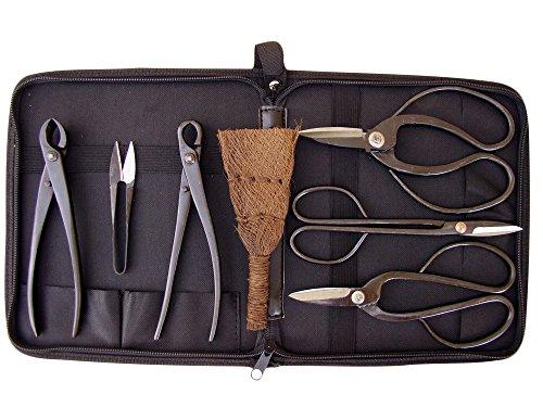 Bonsaiwerkzeugset I, schwarz 7teilig plus praktischer Werkzeugtasche Test