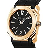 Bvlgari Mens Octo 41mm Black Rose Gold Case Automatic Watch 101963 BGOP41BGLD