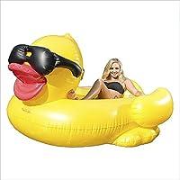 Hamaca inflable portátil de piscina La piscina inflable del PVC flota la forma del pato del asiento para los niños adultos El juguete del flotador de los ...