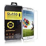 König-Shop Panzer Schutz Glas für Samsung Galaxy S4 Glasfolie Panzerfolie Schutzfolie - 9H Hartglas - 3 Stück