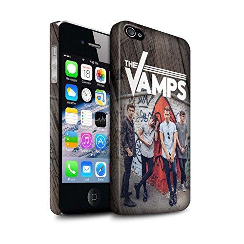 Offiziell The Vamps Hülle / Matte Snap-On Case für Apple iPhone 4/4S / Gebürstetes Muster / The Vamps Fotoshoot Kollektion Holz-Effekt