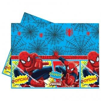 Procos 81528 – Nappe plastique Ultimate Spider Man, 120 x 180 cm, Rouge/Bleu