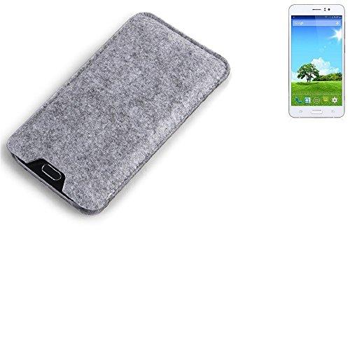 K-S-Trade Filz Schutz Hülle für Bestore Star Note 5 N5D N9200 Schutzhülle Filztasche Filz Tasche Case Sleeve Handyhülle Filzhülle grau