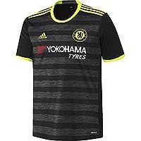 Adidas JSY Camiseta 2ª Equipación Chelsea FC 2015/16, Hombre, Negro/Amarillo