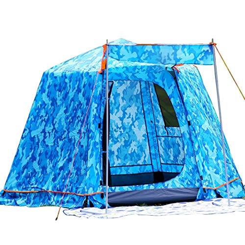 APRFELICIA Doppeltes Outdoor-Zelt Super hoch 3-4 Personen Hexagono Automatisches Zelt Aluminium Teleskopstange Dew 01