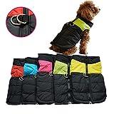 oulii Kleidung für Haustiere für Hunde Katzen Welpen Hunde Mantel Jacke Ski für Haustiere Weste wasserdicht–Größe M (Rosa Rot)