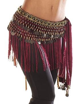 Cinturón con flecos para danza del vientre de Turkish Emporium, estilo tribal