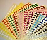 Audioprint Ltd. 6mm Punkte Farbcode ID Punkte Blanke Sticker Etiketten - 6mm, Gemischt