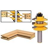 """OEM Systems Company - Punta per fresa verticale / pantografo, per creare finiture con lavorazione ad ogee, per porte e finestre –canna da 1/2"""" di diametro"""