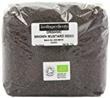 JustIngredients Essential Schwarze Bio-Senfkörner, Organic Black/Brown Mustard Seeds, 2er Pack (2 x 1 kg)
