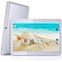 Tagital Tableta con SIM Dual Android 6.0 Quad Core de 10.1 Pulgadas Tableta PC Teléfono Móvil, Pantalla IPS de 1280x800, Cámara Dual, GSM Desbloqueado, Tableta 2G/3G