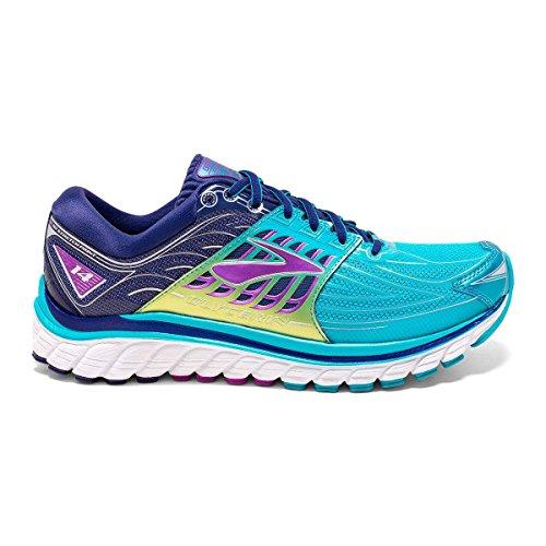 Brooks Glycerin 14 W, Chaussures de Running Compétition Femme Blau (Scuba Blue/Navy Blue/Purple Ca)
