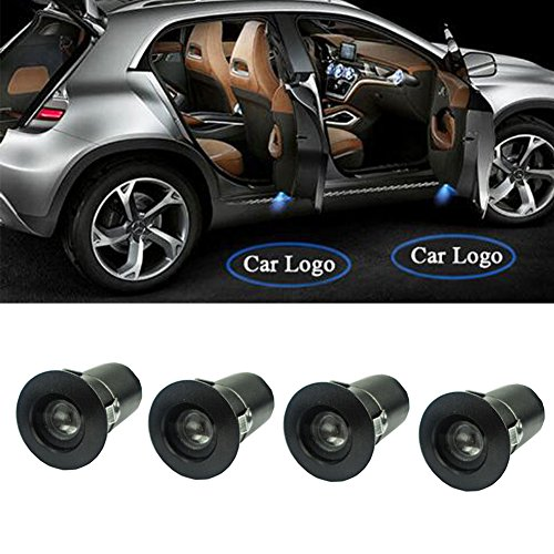 2 Paar Auto LED Tür Courtesy Logo Licht Schatten Laser Projektor LED Willkommen Licht. - Schatten Lotus