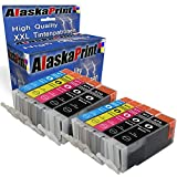 Alaskaprint 10er Set Druckerpatronen kompatibel für Canon PGI-570 XL + CLI-571 XL für Canon PIXMA MG7700 MG7750 MG5750 MG5751 MG5752 MG5753 MG6850 MG6851 MG6852 MG6853 MG7751 MG7752 MG7753 TS6000 Patronen 10erSet570571