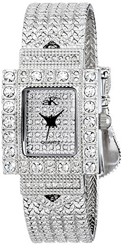 Adee Kaye Women's AK24-L/CR Analog Display Japanese Quartz Silver Watch