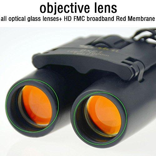 yoosion 8x 21prismáticos plegable Mini Optical portátil Prismáticos con Vision Nocturna de para viajar, escalada, camping, senderismo, caza, estabilizador de imagen