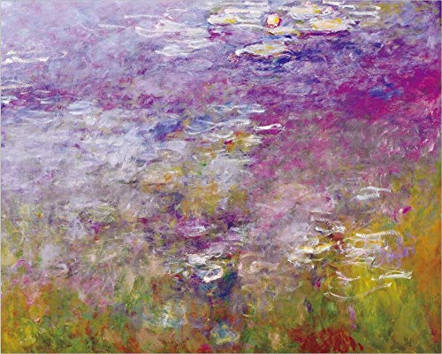Renzhen Imprimir Claude Monet Loto Paisaje Pintura