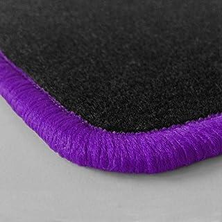 (Randfarbe nach Wahl) Passgenaue Fußmatten aus Nadelfilz mit violettem Rand (203)