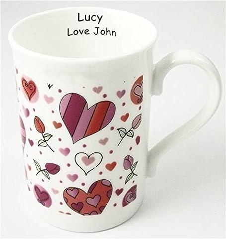 Hearts & Roses Bone China Mug