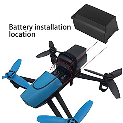 Jullyelegant 2500mAh 11.1V 10C Continuous Discharge Large Capacity Lipo Battery Drone Backup Replacement Battery For Parrot Bebop Drone 3.0