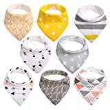 Baby Dribble Bibs Bandana for Girls Boys Unisex...