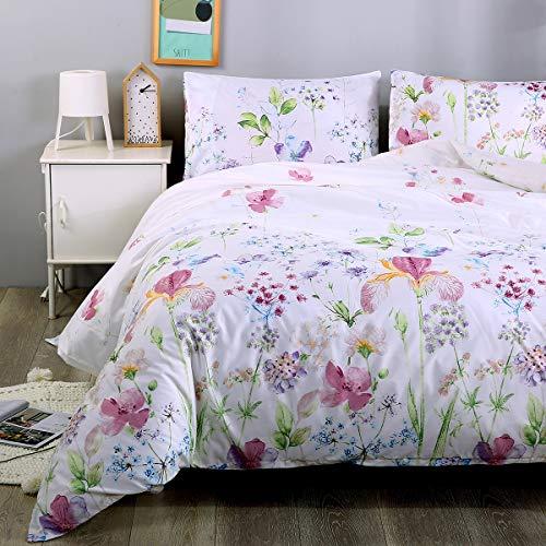 Inky Patrón Floral Lujoso Funda De Edredón Conjuntos de Ropa de Cama Reversible conjuntos de todos los tamaños
