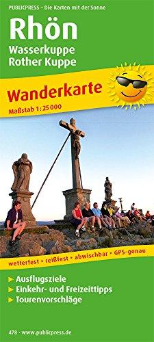 Rhön, Wasserkuppe - Rother Kuppe: Wanderkarte mit Ausflugszielen, Einkehr- & Freizeittipps, wetterfest, reissfest, abwischbar, GPS-genau. 1:25000 (Wanderkarte / WK)