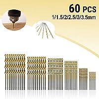 MOHOO 50 1 / 1,5 / 2 / 2,5 / 3 mm HSS codolo acciaio ad alta velocit¨¤ punte da trapano titanio per legno plastica e alluminio rame acciaio