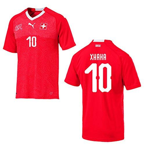 Puma Schweiz Trikot Home Herren WM 2018 - XHAKA 10, Größe:L