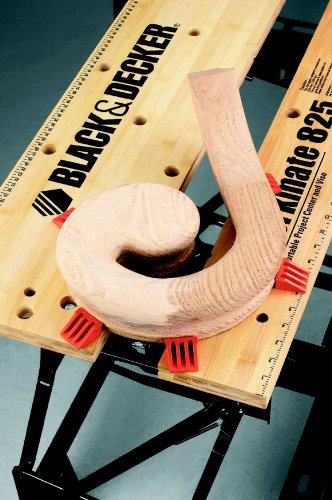Black+Decker flexible Werkbank WM825 mit großer Arbeitsfläche / Exaktes Arbeiten dank Gradeinteilung und Orientierungslinien / Bis 250 kg belastbar / Maße (Arbeitsfläche): 74,0 x 25,0 cm - 6
