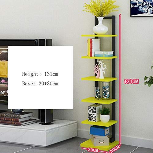 HQQ Bücherregal, Wandregal, groß, schwimmend, offenes Regal, Turmregal, 9 Farben, multifunktionales Regal gelb