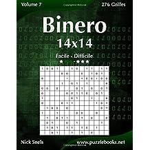 Binero 14x14 - Facile à Difficile - Volume 7 - 276 Grilles