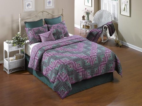 donna-sharp-melanie-log-cabin-hand-quilted-100-percent-cotton-twin-quilt-by-donna-sharp-inc