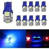 [Aution House-T10 Wedge 5-smd 5050 Lampes SMD en Voiture Meilleur Valeur remplacement et ampoules T10 inverse]-Huston Lowell pour le feu clignotant, le Tronc lampe, la lampe, le feu d'arrêt avec Grande luminosité et longueur vie (Bleu )