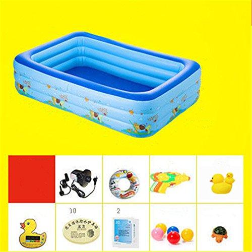 CHENHUAVerdicken Umweltfreundliche PVC Baby Kinder Schwimmen Gefaltet aufblasbare Quadratische Familie Pool Ball Pool 305 * 180 * 66cm Geeignet für über 3 Jahre Alt