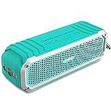 Altavoz Inalámbrico Bluetooth 4.0 COMISO [Max_Audio] Altavoz Impermeable a Prueba de Golpes para Interior y Exterior con Dual Estéreo 5W(Hasta 15 Horas de Uso) Micrófono y Linterna Integrados - (Menta verde)