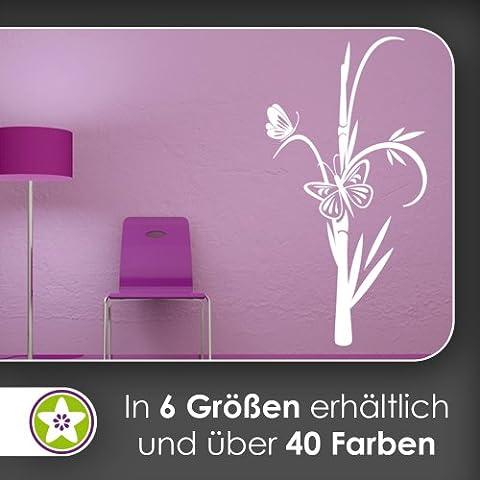 Mariposas en bambú pared adhesivo en 6tamaños––Vinilos Wall Sticker, bambú, 92_kupfer, 80 x 42