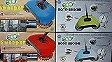Eco Roto Broom Scopa Rotante 360° Funzionamento MANUALE zero consumi senza corrente disponibile a scelta BLU o VERDE serbatoio incorporato
