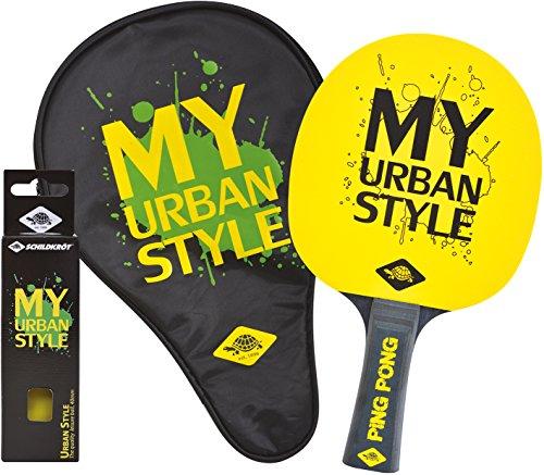 Donic-Schildkröt Tischtennis-Geschenkset My Urban Style, 1 Schläger, 3 Bälle, Schlägerhülle, 788485