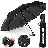 Regenschirm, Ubegood Regenschirm Taschenschirm leicht & kompakt mit voll-automatischer...