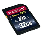 Transcend 32GB SDHC Class 10 Flash Card-TS32GSDHC10