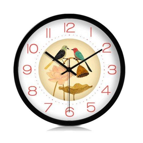 Vinteen semplice grande moderno orologio da polso al quarzo orologio creativo creatività silenzioso orologio da parete soggiorno orologio di moda personalità orologio da tasca stile cinese horologe (nero / argento / bianco) ( color : black )