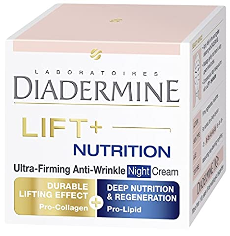 Diadermine LIFT+ Nutrition Regenerating Anti-Wrinkle Night Cream with Pro-Collagen & Pro-Lipids 50ml