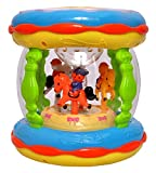 #4: Babytintin Musical Merry-Go-Round Music Drum / Toddlers Musical Drum With Lights, Ocean Sounds, And Lullaby Songs Small Take Along Baby Entertaining Toy For Your Stroller And Car Multicolor (Small Size)